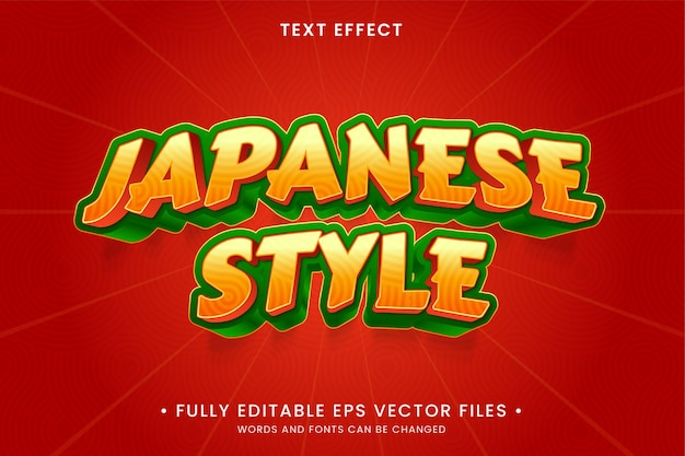 Japanese style text effect