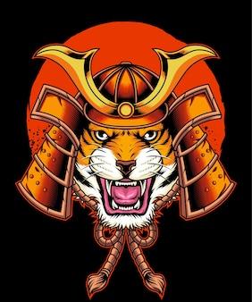 Японский тигр-самурай