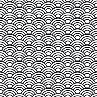 Japanese waves seamless pattern