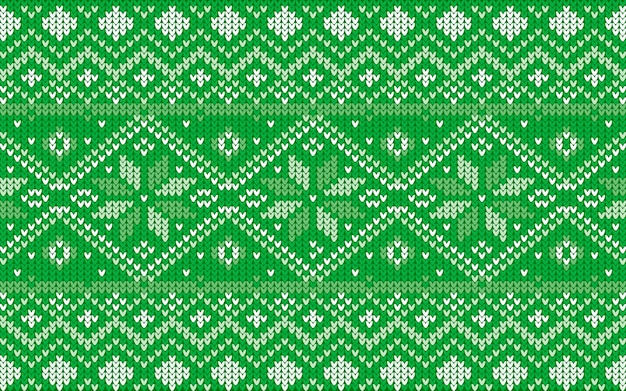 Jaquard pattern for christmas with snowflakes in green