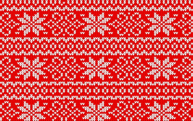 Jaquard pattern for christmas with snowflakes