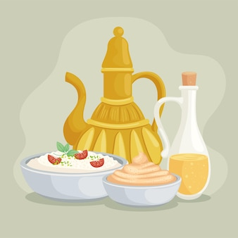 Jar and arabic foods