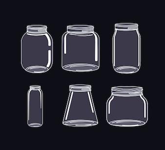 Jar mason fashion glass