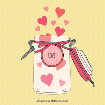 Jar with hearts