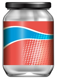 A jar with label design