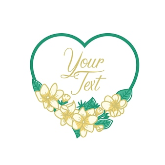 Jasmine flower template text love