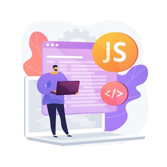 Javascript abstract concept illustration