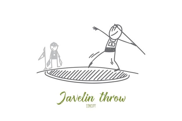 Javelin throw concept illustration