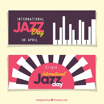 Jazz banners with keyboard
