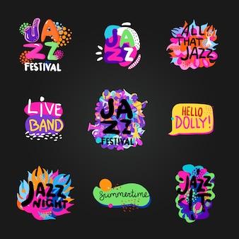 Jazz blackboard set