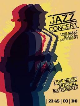 재즈 블루스 음악 콘서트 포스터