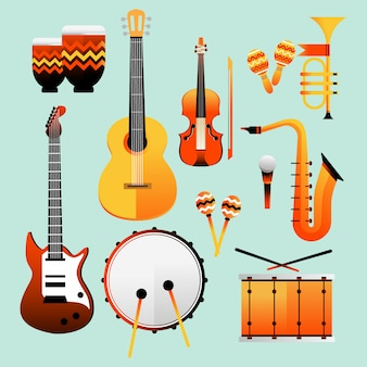 Jazz day music instruments