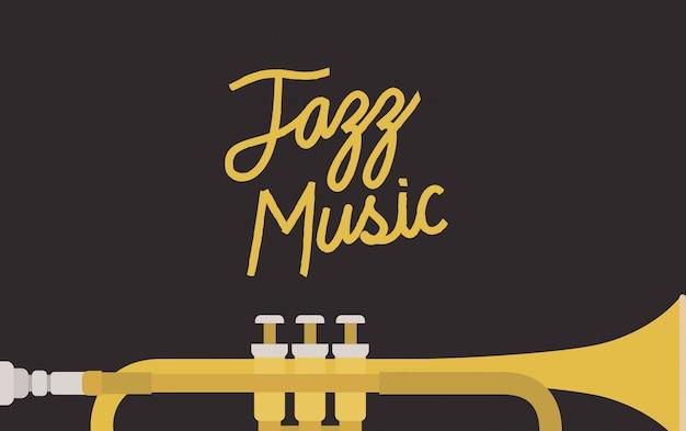 Джазовый день постер с трубой