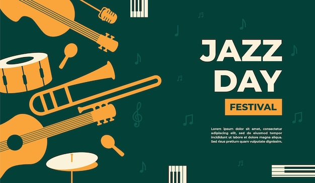 Jazz day vector illustration for poster banner event promotion