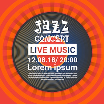 Jazz festival live music concert poster advertisement retro banner