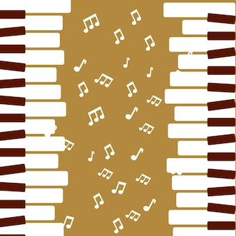 Jazz festival piano play music quaver vector illustration