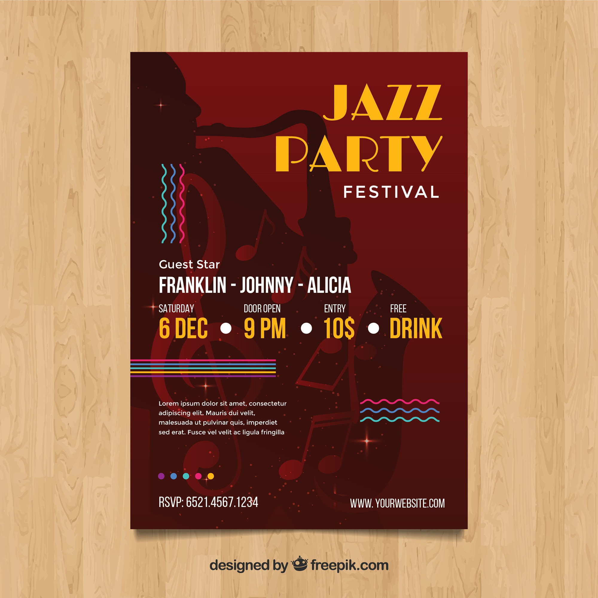 Jazz Festival poster in abstract style