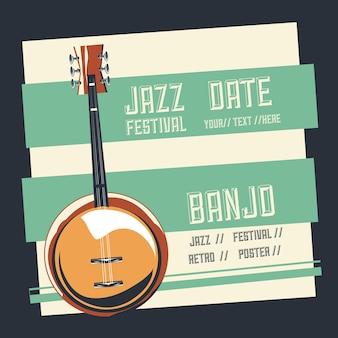 Jazz festival poster Premium Vector
