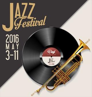 Jazz festival vector illustration