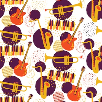 Jazz instruments pattern