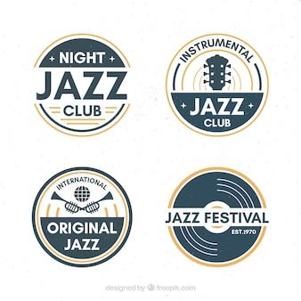 빈티지 스타일의 재즈 로고 컬렉션