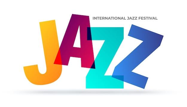 Jazz logo for music festival modern black and white template international jazz day
