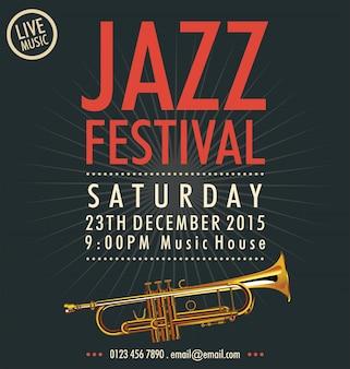 Jazz music festival, poster