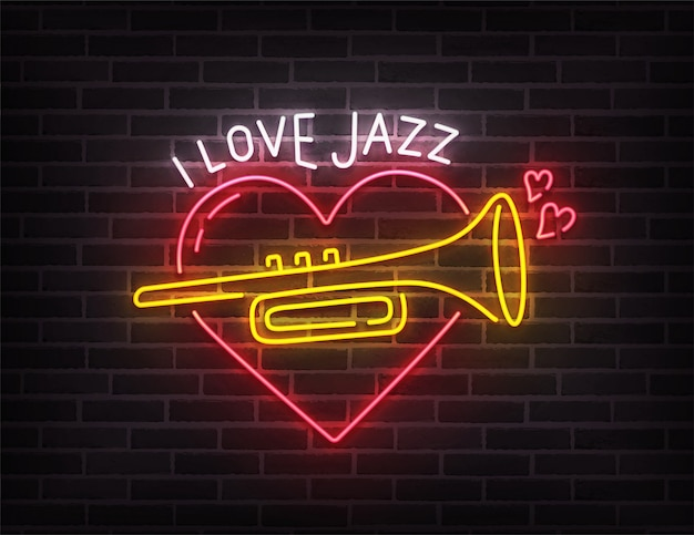 Jazz music neon sign