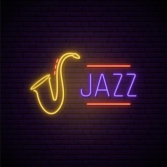 Jazz music neon sign.