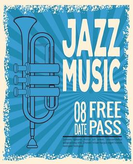 Jazz musical festival flyer