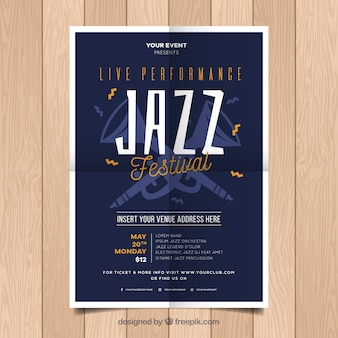 Jazz party poster