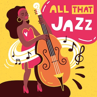 Jazz poster vector design