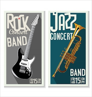 Jazz and rock music festival, poster