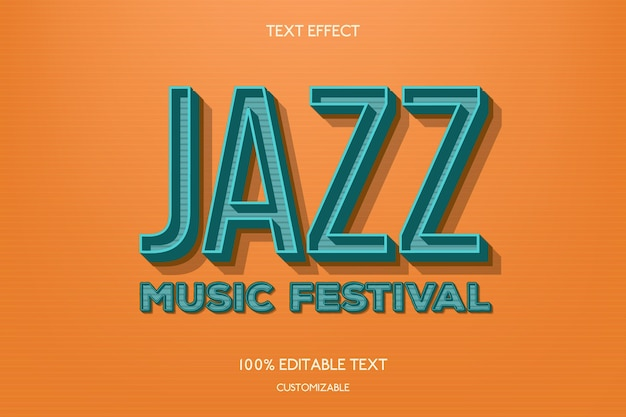 Jazz text effect concept