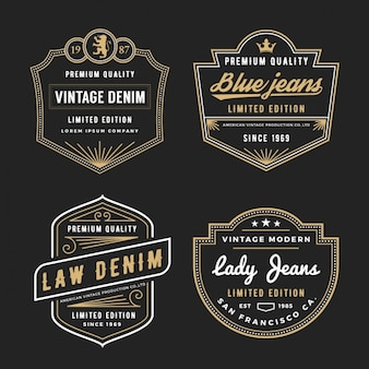 Jeans labels collection