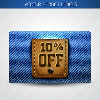 Jeans and leather dicount label