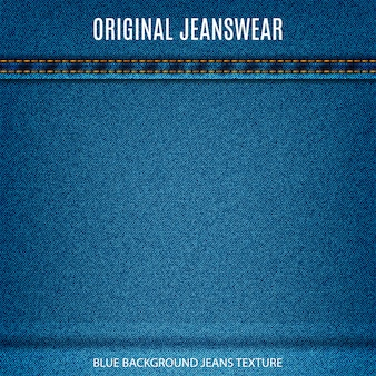 Jeans texture blue color with stitch denim material background for your design
