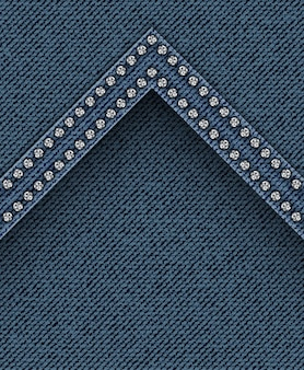Jeans texture with angle