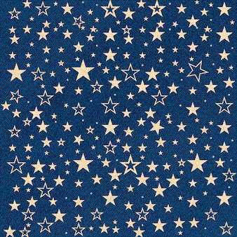 Jeans texture with stars