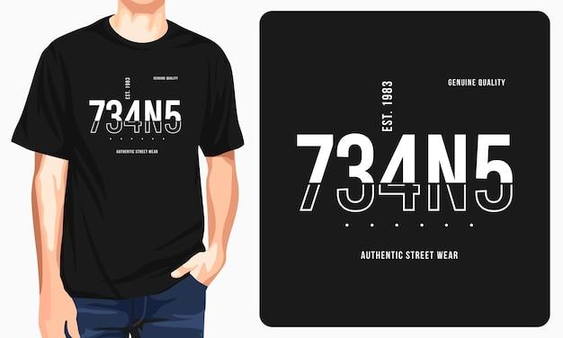 ジーンズタイポグラフィグラフィックtシャツ