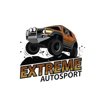Jeep car logo, extreme sport