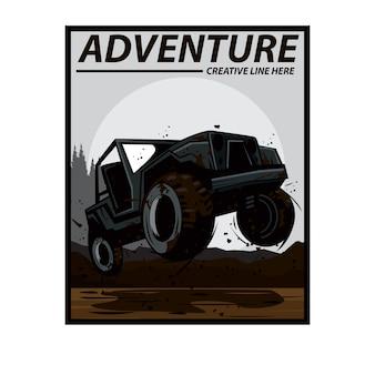 Jeep on the mud