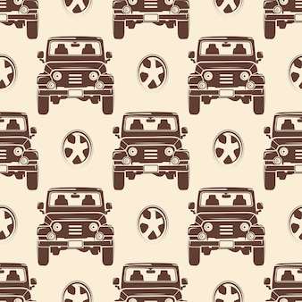 Jeeps seamless pattern design