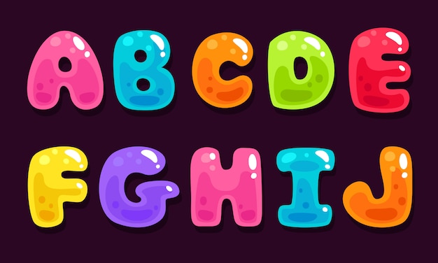 Jelly colorful alphabets part 1