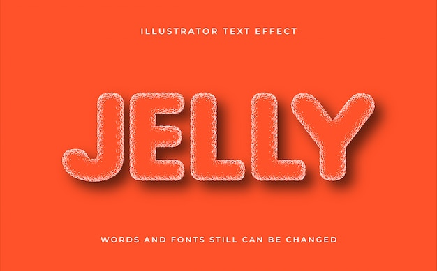 Jelly creative editable text effect