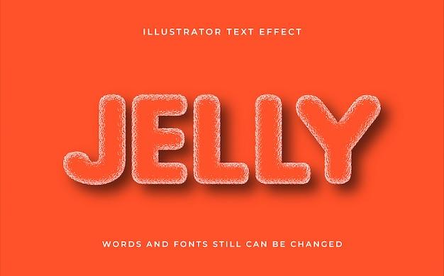 Jelly creative editable text effect
