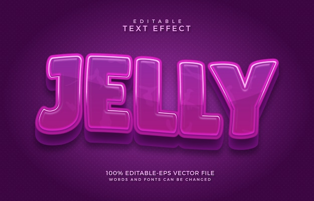Jelly editable text effect