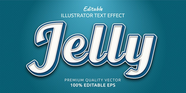 Jelly editable text style effect