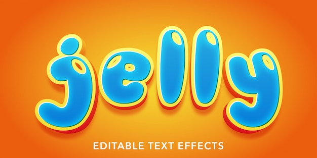 Jelly editable text style effects