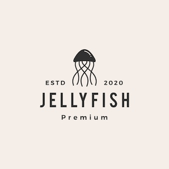 Jelly fish hipster vintage logo